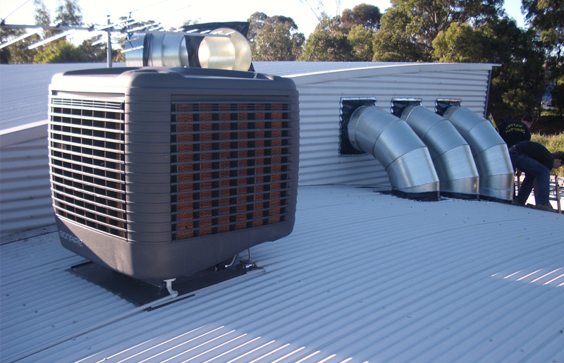 Cool Sparky electricians maintain, instal and repair evaporative air conditioning systems